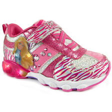 Barbie Girls Kids Pink Lighted Sneakers Shoes BBF307 7 8 9 10 11 12