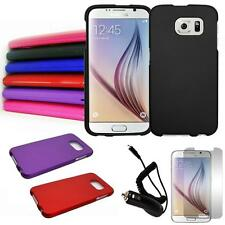 Phone Case For Samsung Galaxy S6 Hard Cover Car Charger Screen Protector