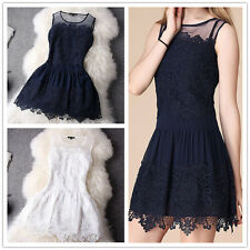 New Design Sexy Lace Dress Summer Women Vintage Bodycon Mini Party Evening Dress