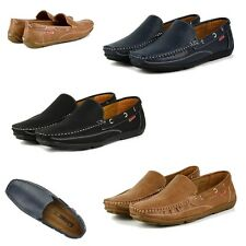 S340 - Mens Casual Slip On Leather Lined Formal Loafers Boat Shoes - UK 6 - 11
