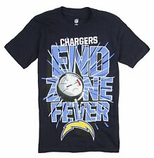 NFL Football Youth San Diego Chargers Short Sleeve End Zone Fever T-Shirt, Navy