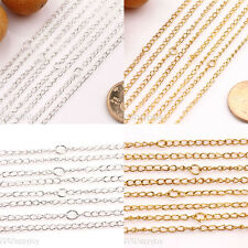 10/50PCS Gold/Silver/Plated Twisted Clasp Rings Chains Jewelry Findings 19.7inch