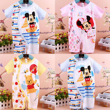 Newborn Baby Boys Girls Cartoon Bodysuit 0-18M Cotton Romper Clothes One-Piece