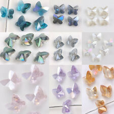 Hot 10/20Pcs Glass Crystal Butterfly Beads Loose Spacer Beads 8X5mm 10Coplors
