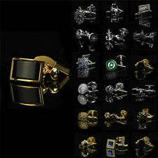 New Lot Vintage Stainless Steel Golden Silver Jewelry Wedding Gift Men Cufflinks