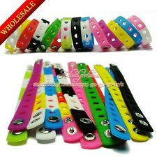 1pcs Silicone Wristbands Bracelets Fit for Jibz Shoe Charms,14 colors,18cm/21cm