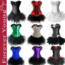 Burlesque Moulin Rouge Can Can Tutu Fancy Dress Costume Corset Outfit UK Size 8