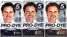 PRO DYE MEN MENS HAIR DYE PERMANENT COLOUR COLOURANT CREME - BUY 3 GET 1 FREE