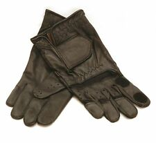 Shooting Gloves Black Leather Light weight Summer Clay Pigeon shooting Gloves