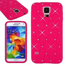 Hot Sell Soft Bling Crystal Diamond Silicone Red Cover Case For Various Phones