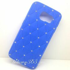 Fashion Dark Blue Soft Gel Bling Diamond Silicone Case Cover For Various Phone