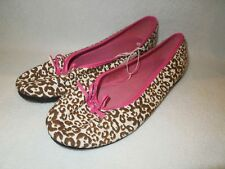 Claire's Brown/Cream Animal Print Ballet Shoes Women's Size 5/6 7/8, 9/10 NWT