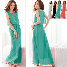 New Womens Summer Beach Maxi Dress for Evening Cocktail Party Chiffon Dress
