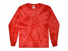 Tie Dye T-Shirt Red Long Sleeve Adult S M L XL XXL XXXL Pre-Shrunk Cotton