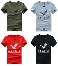 Mens Casual shirts Slim Fit o-neck/crew neck T-shirt Short Sleeve Muscle Tee aa