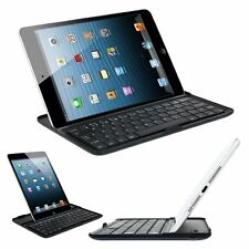 For Apple iPad Mini Auminum alloy Leather Case Cover With  Bluetooth Keyboard