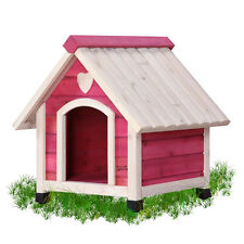 Designer Wooden Adorable Princess Pink Arf Real Wood Dog House New Size XS S M L