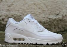 Nike Air Max 90 GS Grade School White Wolf Grey Leather 307793-167