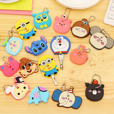 Assorted Plastic Key Ring Head Cover Chain Cap Keyring Phone Strap Mini Animals