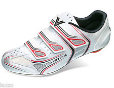 Vittoria Twister Junior Kids Shoes In White/ Red  Road Bike Cycling Shoes