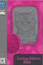 Curious Kittens Bible- NIV w Ribbon marker, Christ Words in red +12 Kitten Pics