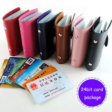 Women 'sMini Credit/ID Bank Card Organizer Case Holder Organizer Wallet 24 Slots