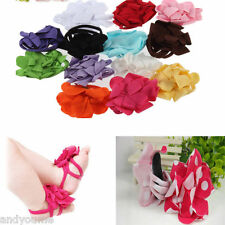 0-12M Baby Toddler Girls Barefoot Cute Flower Sock Sandals Toe Blooms Shoes New