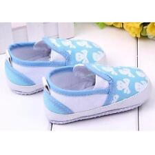 Boy Girl Canvas Shoes Antiskid Toddler Flat Slip On Baby Shoes 6-12 12-18 MTH
