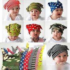 Comfortable Cotton Children Kid Baby Toddle Stripes Spots Pattern Beanie Cap Hat