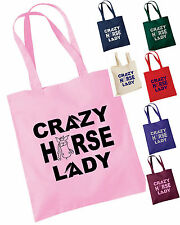 CRAZY HORSE LADY TOTE / SHOPPING / GROOMING BAG, MANY COLOURS + GLITTER!