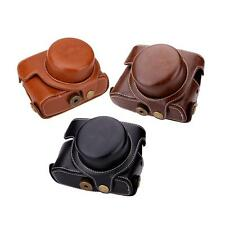NEW Hard Leather Camera Case Bag with Strap for Canon G1XM2 Digital Camera