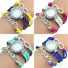 Young Lady's Exquisite Crystal Bracelet Glittery Dream Rhinestone Bangle Watch