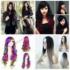 Women Long Fashion Anime Cosplay Heat Resistant Hair Free Shipping New+Wig Cap