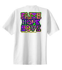 Christian Neon T-shirt Faith Hope Love