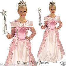 CK418 Girls Princess Pink Fairy Sleeping Beauty Aurora Book Week Dress Costume