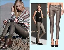 $238 J Brand Gold Dust 620 Coated Stocking Super Skinny Mid Rise Jeans