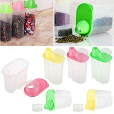 PC Dry Dried Food Cereal Pasta Flour Storage Dispenser Food Rice Container Box
