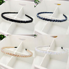 New Delicate Womens Girls Crystal Handmade Beads Headband Glittering Hair Band