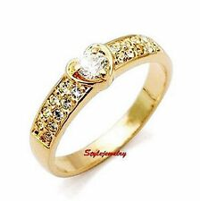 18k Rose Gold Plated Engagement Love Heart Ring Made With Swarovski Crystal R110