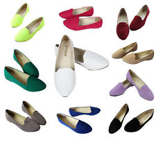 Solid Colors Women Flat Shoes Fake Suede Ladies Low Ballet Shoes Casual Slipper