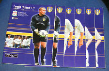 LEEDS UNITED HOME PROGRAMMES 2000-2001