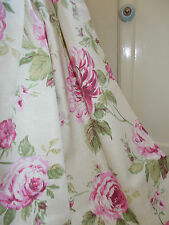 BEAUTIFUL SHABBY CHIC CURTAINS, VINTAGE FULL ROSES IN PINKS & CREAM Very Elegant