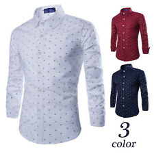 Fashion Mens Fashion Luxury Casual Slim Fit Stylish Long Sleeve Dress Shirts Top