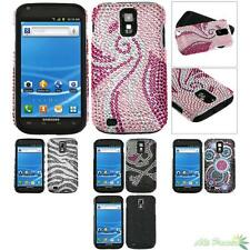 Fusion Phone Case Cover For T-Mobile SAMSUNG T989(Galaxy S II) Bling Rhinestone