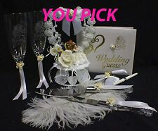 Wedding Cake Topper OR Glasses Knife set OR Book w/ Belle Beauty & the Beast