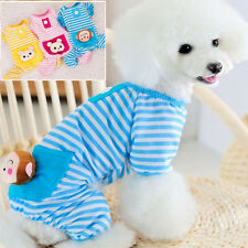 New Small Pet Dog/Cat Stripes Pajamas Puppy Coat Clothes Apparel Summer Clothing