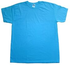 Tees, Neon Blue Adult S M L XL 2XL 3XL Short Sleeve 100% Cotton Gildan Solid