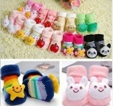 Baby Girl Boy Anti-slip Socks Cartoon Newborn Slipper Shoes Boots 0-3 Months DUK