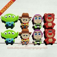 Lots of Toy Story Shoe Charms/Shoe Buckle Fit for Jibz Bracelets Band,Kids Gift