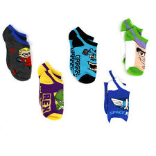 Toy Story Incredibles Monsters Inc Boys 5 Pack Ankle Socks F5904F 6-8